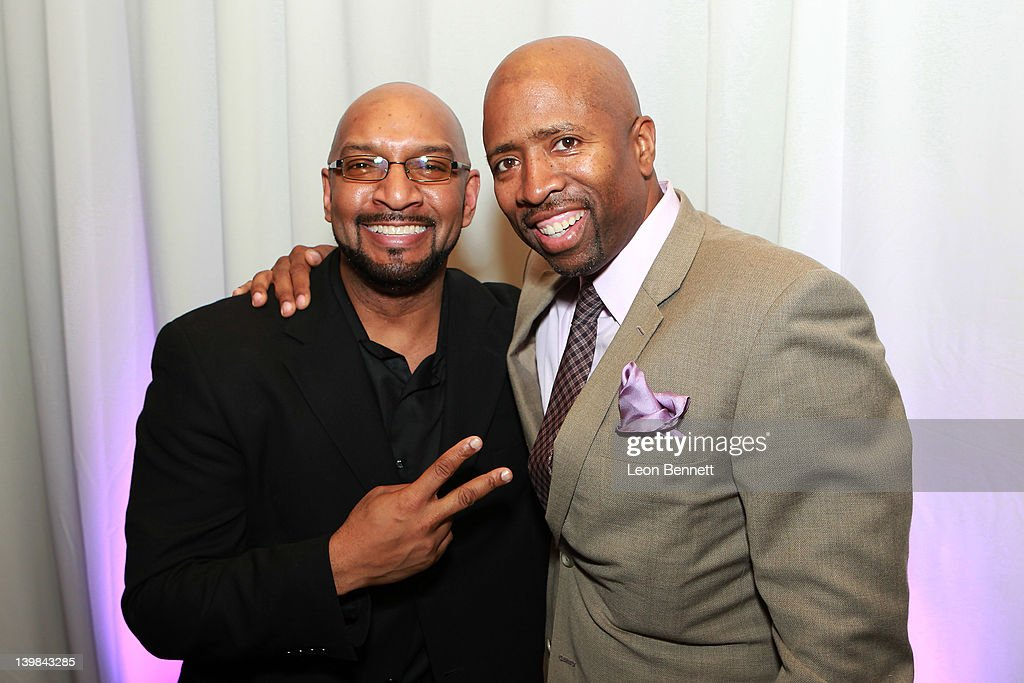 Kenny Smith (R) and DJ Wiz attend 10th Annual Kenny The Jet Smith NBA All-Star Bash, hosted by Mary J. Blige on February 24, 2012 in Orlando, Florida.