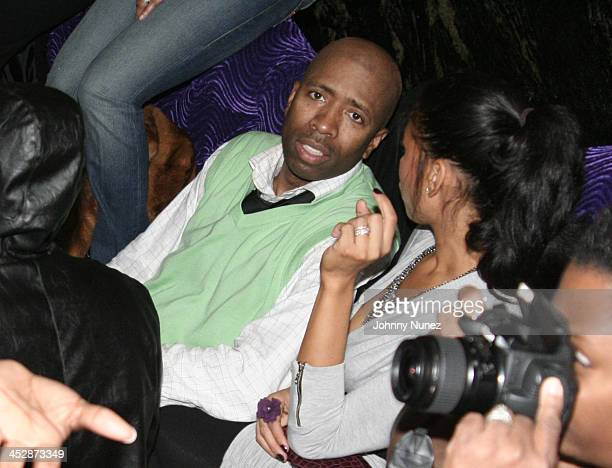 Kenny Smith and wife Gwendolyn Osborne attend the Kenny Smith 8th Annual AllStar Bash on February 12 2010 in Dallas Texas