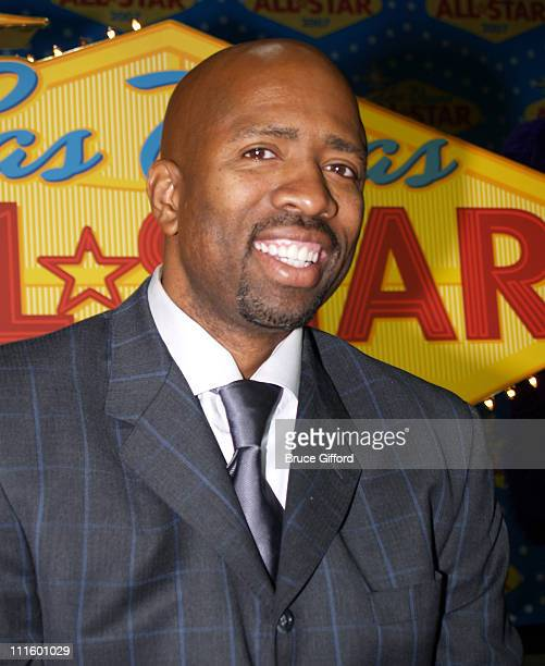 Kenny Smith during NBA Legends Unveil 2007 NBA AllStar Logo at Fashion Show Mall in Las Vegas NV United States