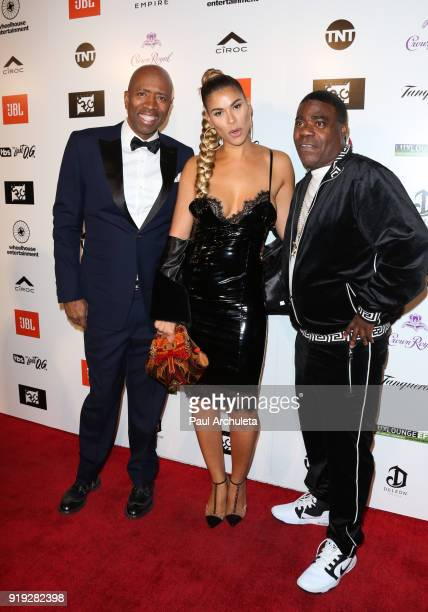 Kenny Smith Gwendolyn OsborneSmith and Tracy Morgan attend Kenny The Jet Smith's annual AllStar bash presented By JBL at Paramount Studios on...