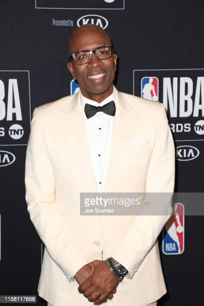 Kenny Smith poses in the press room during the 2019 NBA Awards presented by Kia on TNT at Barker Hangar on June 24 2019 in Santa Monica California