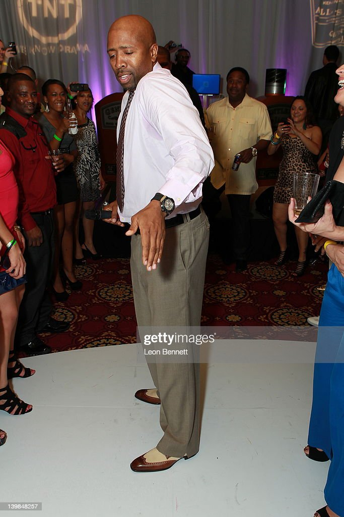 Kenny Smith shows his moves down the Soul Train line at the 10th Annual Kenny The Jet Smith NBA All-Star Bash, hosted by Mary J. Blige on February 24, 2012 in Orlando, Florida.