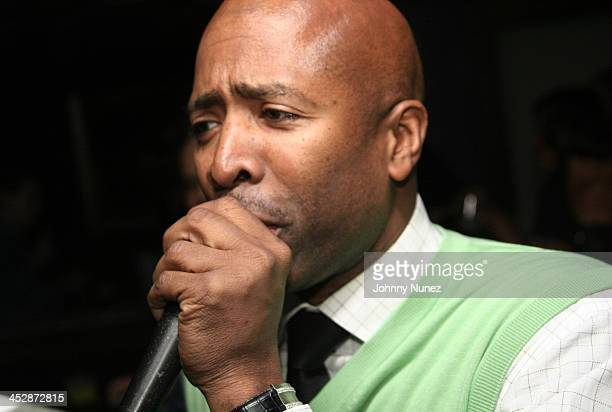 Kenny Smith speaks at his 8th Annual AllStar Bash on February 12 2010 in Dallas Texas