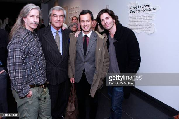 Kenny Storch Jerry Lauren Andrew Lauren and Greg Lauren attend GREG LAUREN COUNTER COUTURE OPENING at FiAF Gallery on February 3 2010 in New York City
