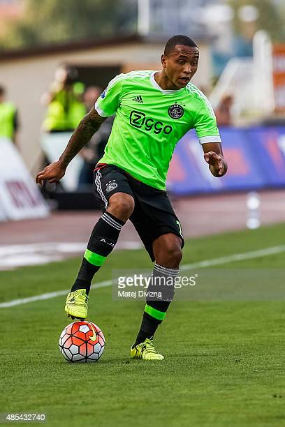 Kenny Tete of Ajax Amsterdam in action during the UEFA Europa League Play Off Round 2nd Leg match between FK Jablonec and Ajax Amsterdam on August 27...