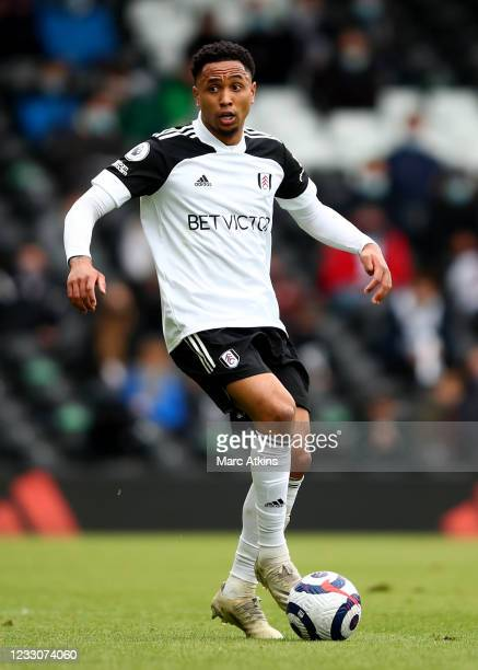 Kenny Tete of Fulham during the Premier League match between Fulham and Newcastle United at Craven Cottage on May 23, 2021 in London, United Kingdom.