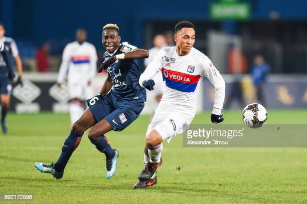 Kenny Tete of Lyon and Salomon Sambia of Montpellier during the french League Cup match Round of 16 between Montpellier and Lyon on December 13 2017...