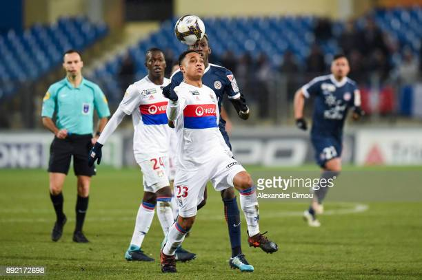 Kenny Tete of Lyon during the french League Cup match Round of 16 between Montpellier and Lyon on December 13 2017 in Montpellier France