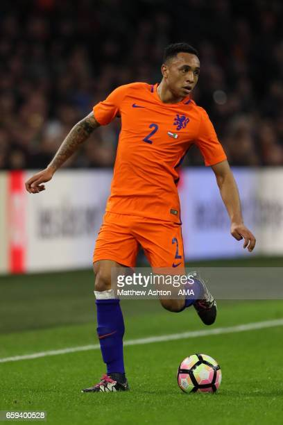 Kenny Tete of Netherlands in action during the international friendly match between Netherlands and Italy at Amsterdam ArenA on March 28 2017 in...