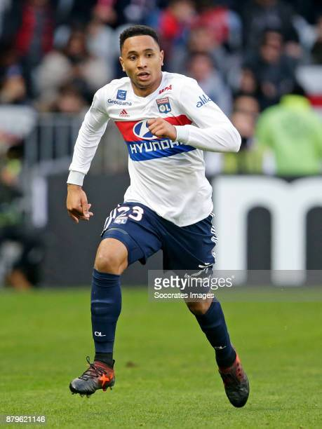 Kenny Tete of Olympique Lyon during the French League 1 match between Nice v Olympique Lyon at the Allianz Riviera on November 26 2017 in Nice France