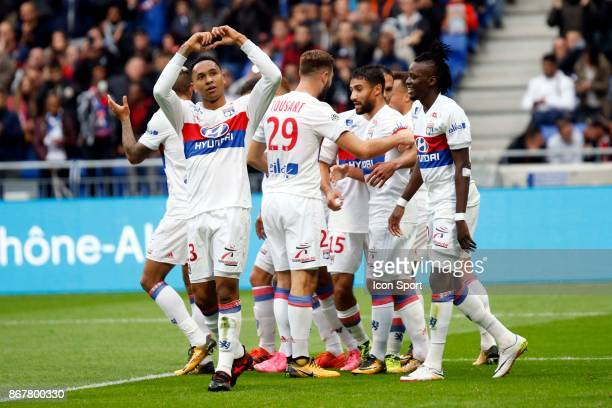 Kenny Tete to OL and Bertrand Traore to OL during the Ligue 1 match between Olympique Lyonnais and Fc Metz at Parc Olympique on October 29 2017 in...