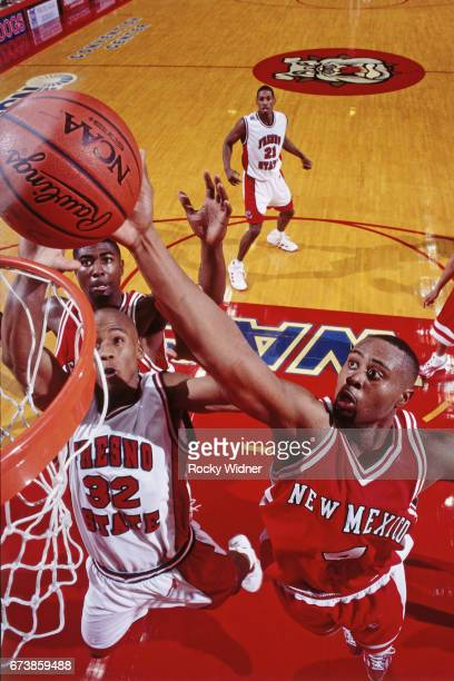 Kenny Thomas of New Mexico shoots the ball against Fresno State on January 4 1999 at Selland Arena in Fresno California NOTE TO USER User expressly...