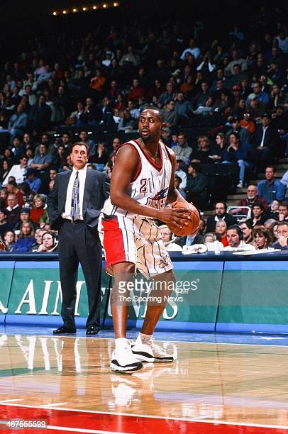 Kenny Thomas of the Houston Rockets during the game against the Phoenix Suns on November 18 2000 at Compaq Center in Houston Texas