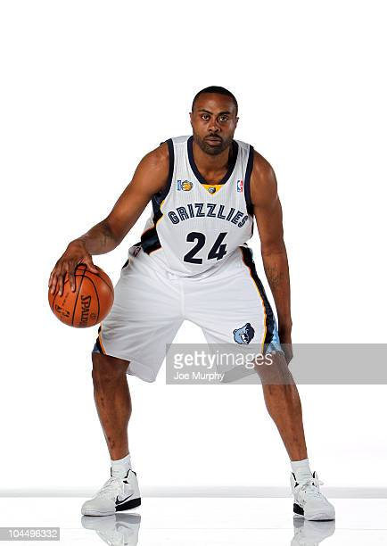 Kenny Thomas of the Memphis Grizzlies poses for a portrait during NBA Media Day on September 27 2010 at the FedExForum in Memphis Tennessee NOTE TO...