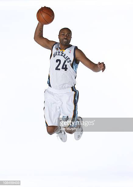 Kenny Thomas of the Memphis Grizzlies poses for a portrait during NBA Media Day on September 27 2010 at at the FedExForum in Memphis Tennessee NOTE...