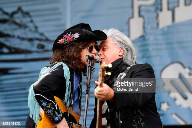 Kenny Vaughan and Marty Stuart of Marty Stuart and his Fabulous Superlatives performs during Pilgrimage Music Cultural Festival on September 24 2017...