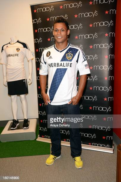 Kenny Walker of Los Angeles Galaxy participates in the Macy's Back To School charity event at Macy's on August 10 2012 in Culver City California