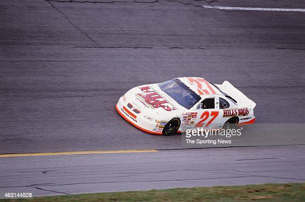 Kenny Wallace drives his car during practice for the Daytona 500 at the Daytona International Speedway on February 17 2001 in Daytona Beach Florida