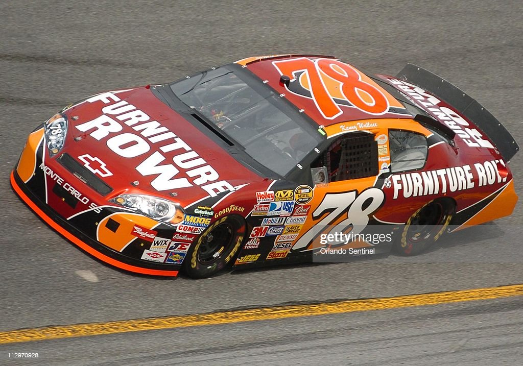 Kenny Wallace Drives The (78) Furniture Row Chevrolet Car During Qualifying  For The Daytona