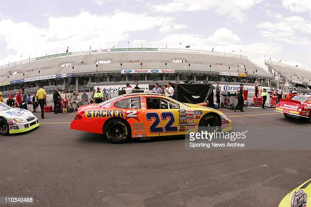 Kenny Wallace during practice for the Telcel Motorola Mexico 200 Busch Series race at the Autodromo Hermanos Rodriguez race track in Mexico City,...