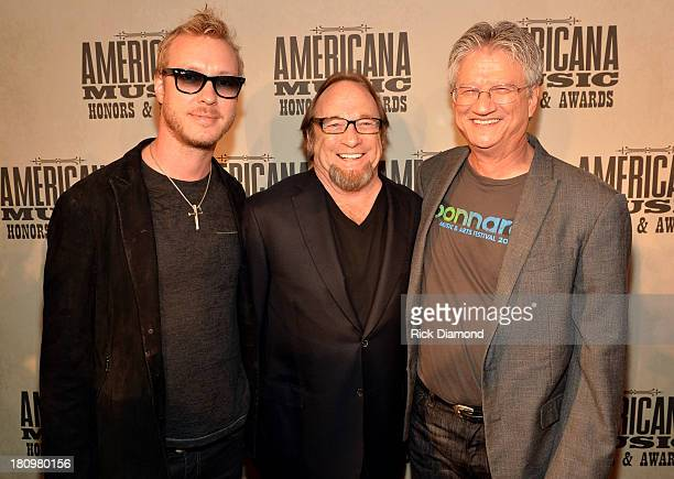 Kenny Wayne Shepherd and Buffalo Springfield's Stephen Stills and Richie Furay attend the 12th Annual Americana Music Honors And Awards Ceremony...