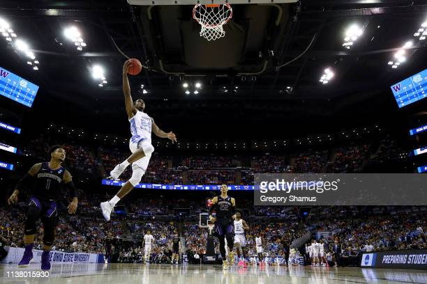 Kenny Williams of the North Carolina Tar Heels goes up for a shot against the Washington Huskies during their game in the Second Round of the NCAA...