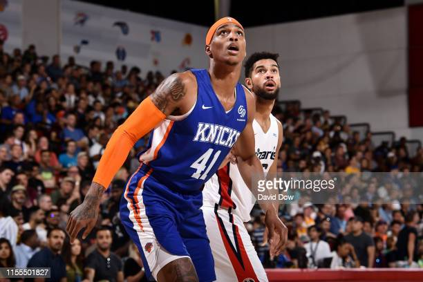 Kenny Wooten of the New York Knicks boxes out Washington Wizards on July 13 2019 at the Cox Pavilion in Las Vegas Nevada NOTE TO USER User expressly...