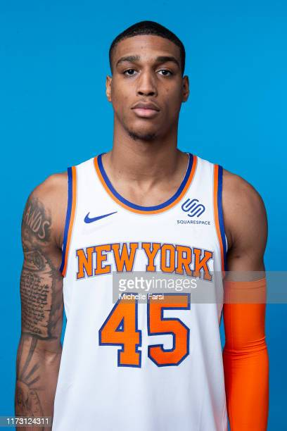 Kenny Wooten of the New York Knicks poses for a head shot during media day on September 30 2019 at the Madison Square Garden Training Center in...
