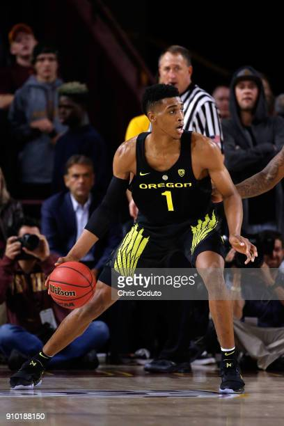 Kenny Wooten of the Oregon Ducks during the first half of the college basketball game against the Arizona State Sun Devils at Wells Fargo Arena on...