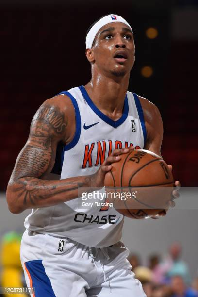 Kenny Wooten of the Westchester Knicks shoots the ball against the Lakeland Magic on January 10 2020 at the RP Funding Center in Lakeland Florida...