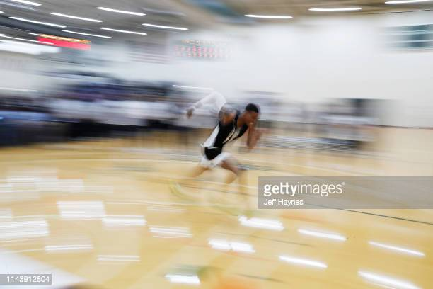 Kenny Wooten works out at shuttle row during Day Two of the G League Elite Camp at the Quest Multisport sports training facility on May 13 2019 in...