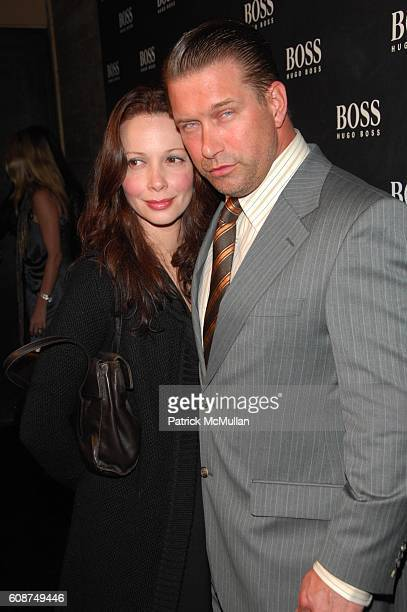Kennya Baldwin and Stephen Baldwin attend BOSS Black Spring/Summer 2008 Collection at Cunard Building NYC on October 17 2007