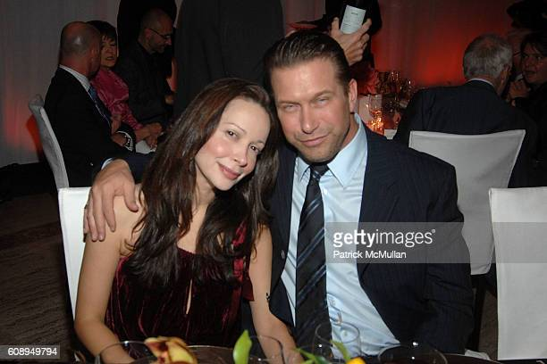 Kennya Baldwin and Stephen Baldwin attend ROLEX MENTOR and PROTEGE ARTS INITIATIVE at New York State Theatre Lincoln Center on November 12 2007 in...
