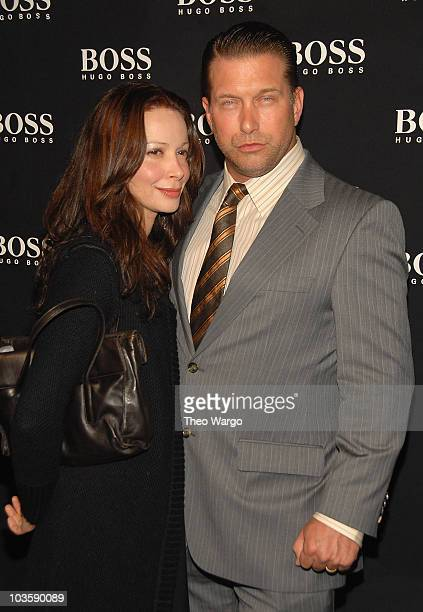 Kennya Deodato and Stephen Baldwin at the BOSS Black Spring 2008 Fashion Show at the Cunard Building in New York City on October 17, 2007