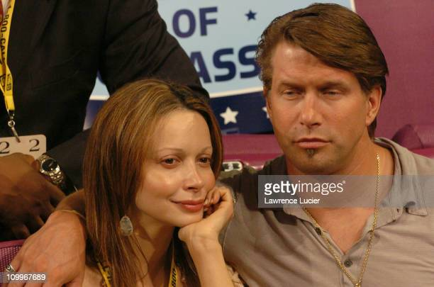 Kennya Deodato and Stephen Baldwin during 2004 Republican National Convention - Day 2 - Inside at Madison Square Garden in New York City, New York,...