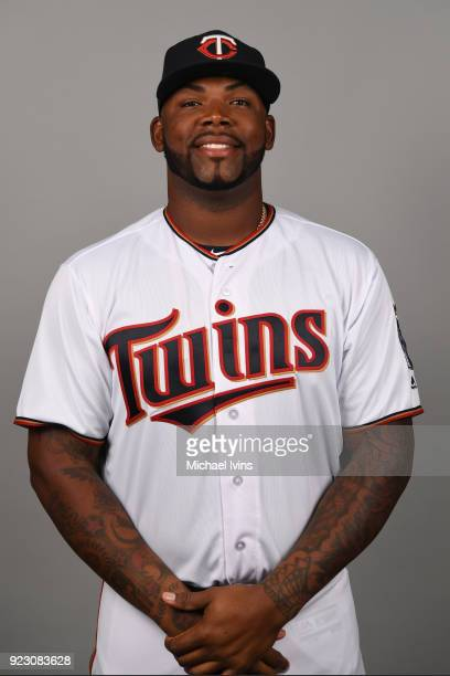 Kennys Vargas of the Minnesota Twins poses during Photo Day on Wednesday February 21 2018 at CenturyLink Sports Complex in Fort Myers Florida