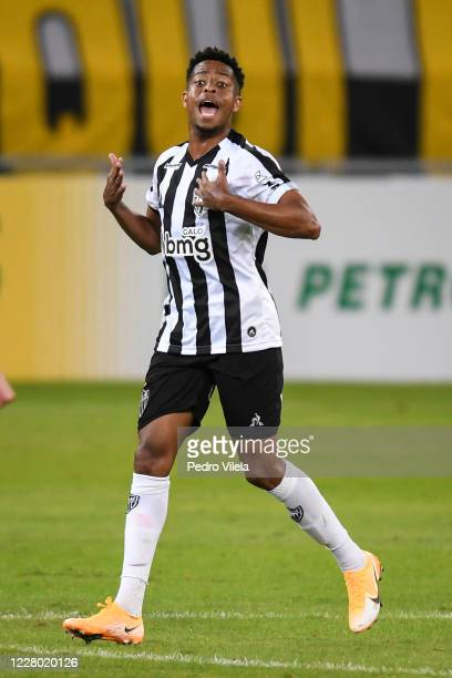 Keno of Atletico MG celebrates a scored goal against Corinthians during a match between Atletico MG and Corinthians as part of Brasileirao Series A...