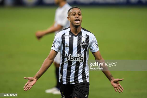Keno of Atletico MG celebrates a scored goal against Gremio during a match between Atletico MG and Gremio as part of Brasileirao Series A 2020 at...