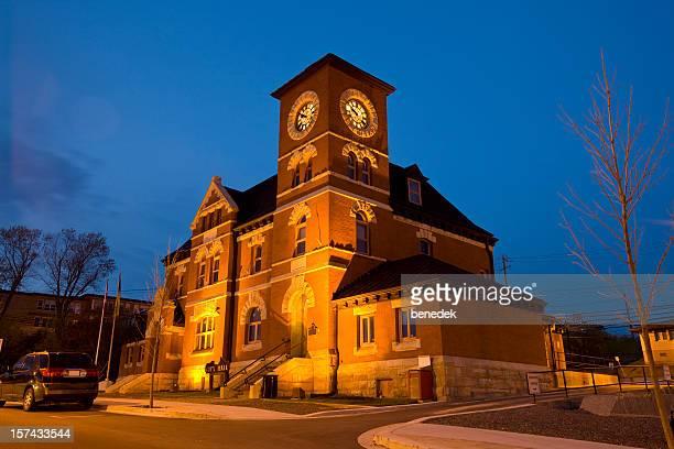 kenora ontario canada town hall - kenora stock pictures, royalty-free photos & images