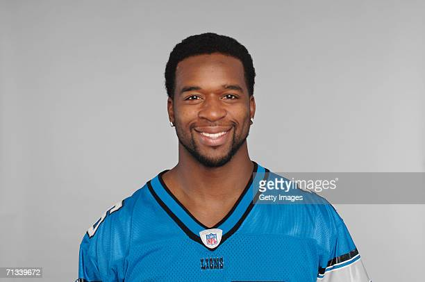 Kenoy Kennedy of the Detroit Lions poses for his 2006 NFL headshot at photo day in Detroit Michigan