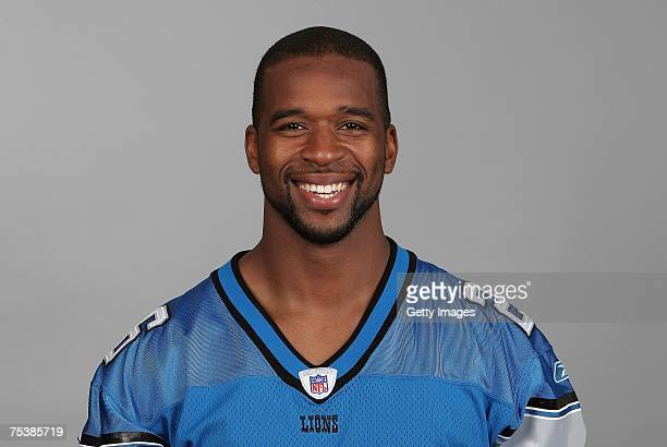 Kenoy Kennedy of the Detroit Lions poses for his 2007 NFL headshot at photo day in Detroit Michigan