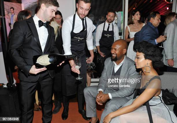 Kenric Green and Sonequa Martin attend W Magazine's Celebration of its 'Best Performances' Portfolio and the Golden Globes with Audi Dior and Dom...