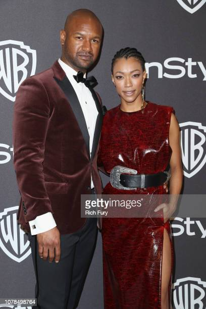 Kenric Green and Sonequa Martin-Green attend the InStyle And Warner Bros. Golden Globes After Party 2019 at The Beverly Hilton Hotel on January 6,...