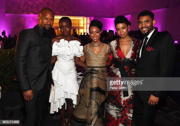 Kenric Green Danai Gurira Sonequa MartinGreen and Susan Kelechi Watson attend 49th NAACP Image Awards After Party at Pasadena Civic Auditorium on...