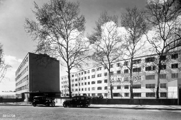 Kensal House at Ladbroke Grove London designed by Maxwell Fry