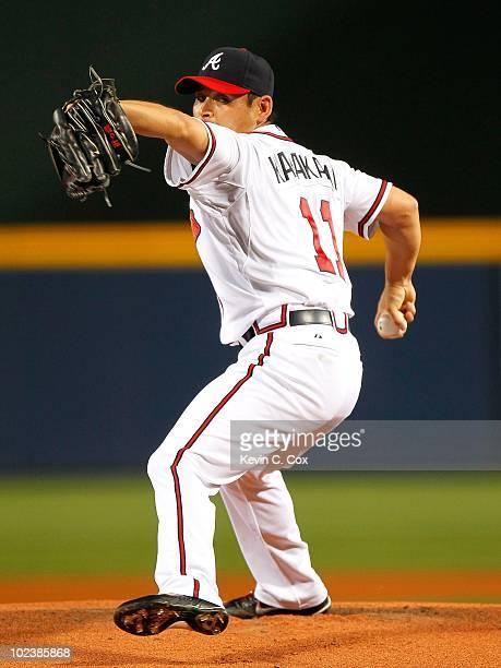 Kenshin Kawakami of the Atlanta Braves against the Tampa Bay Rays at Turner Field on June 15 2010 in Atlanta Georgia