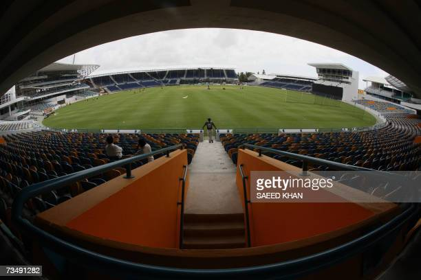 Kensington Oval, BARBADOS: A view of Kensington Oval Stadium that will host the super matches and the final of the World Cup Cricket 2007 in...