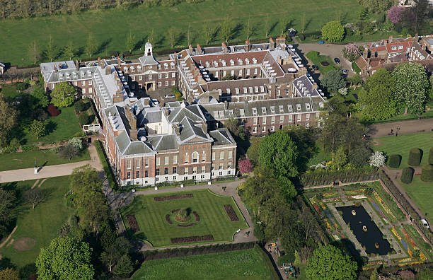 Kensington Palace in Hyde Park in the centre of London, England.