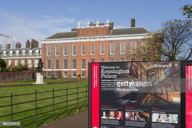kensington palace in hyde park, london. - kensington palace stock pictures, royalty-free photos & images