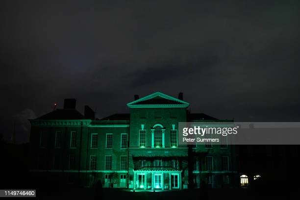 Kensington Palace is lit up green to mark the second anniversary of the Grenfell tower fire on June 13, 2019 in London, England. A number of the...